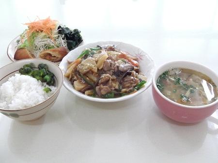 中華定食(八宝菜)
