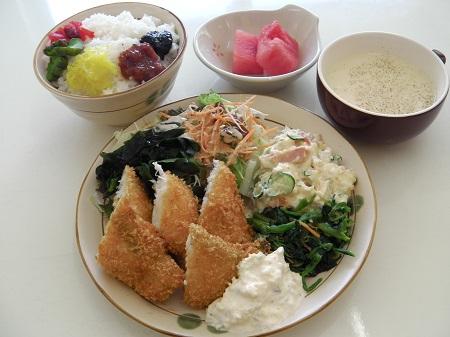 洋定食(白身魚フライ)