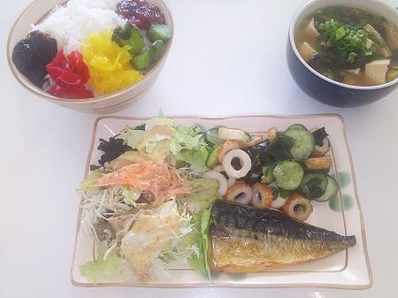 和定食(サバの塩焼き)