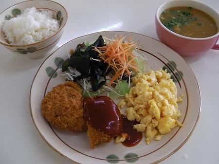 洋定食(メンチカツ)