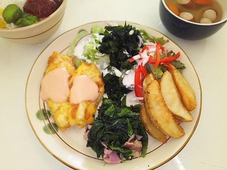 洋定食(白身魚のピカタ風)