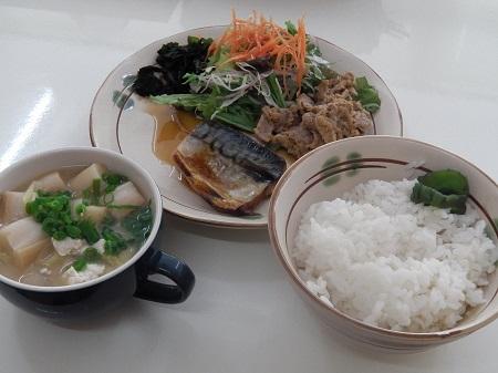 和定食(サバの塩焼)