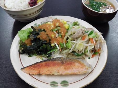 和定食(鮭の塩焼)